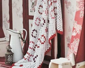 Crochet Granny Square Blanket PDF Pattern - Instant Download