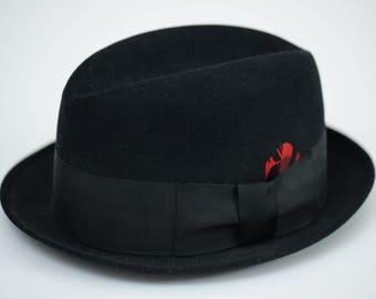 Fedora Richman Brothers Black Size 6-3/4 Black