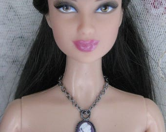 New Made to Order Cameo Necklace Fashion Doll Jewelry 4 Chain Choices 13 Colors 11 1/2 - 12 inch Fashion dolls 1/6th Scale 17 inch Monster