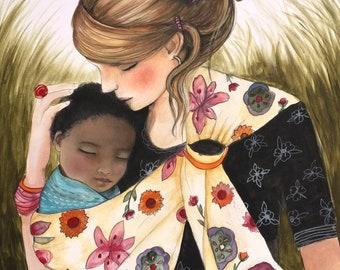 mother child adoption, interracial