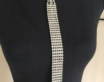 Vintage 80's Rhinestone Necktie