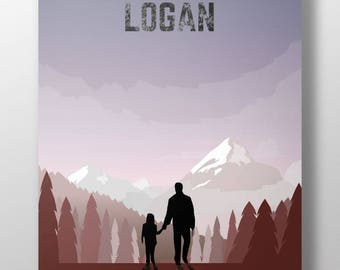 Logan alternative film poster, Wolverine drawing, X-men print for wall decor