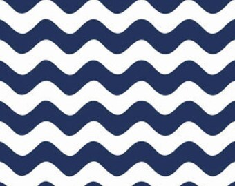 ONLY 4.00 per yard!  Riley Blake Wave Basics in Navy  C415-21