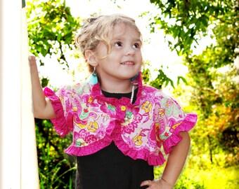 Ruffled Girls Bolero Pattern -- sizes 12 months- 12 girls PDF Instant