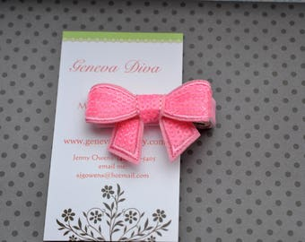 Shocking Pink Sequin Bow