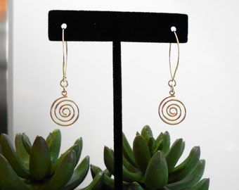 STERLING SILVER SWIRL earrings - lightweight sterling silver earrings - Valentines day gift