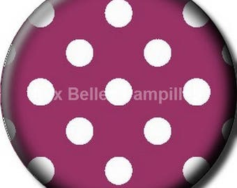 "Round cabochon resin 25 mm - ""spotted"" stick (1050) - gift, gift."