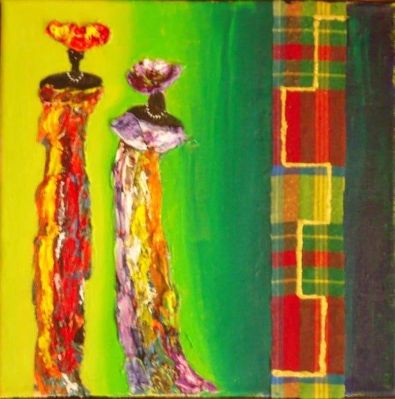 Peinture contemporaine l 39 huile antillaises - Peinture contemporaine au couteau ...