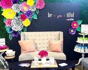 17 pc Paper Flower Set, backdrop, nursery, home decor, beauty, Customize your colors!