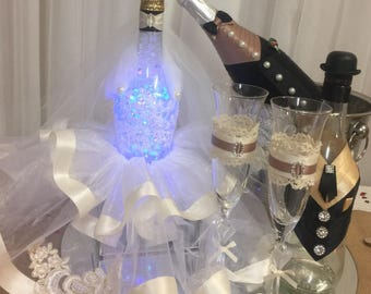 Bride and groom table lamp, wedding table decoration, bridal lamp, decorative lamp, wedding set, wedding centre piece, wedding decoration
