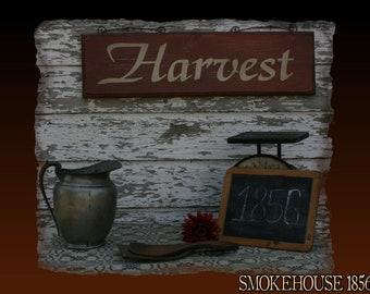 Harvest Fall Farm Primitive Smokehouse Sign Decor