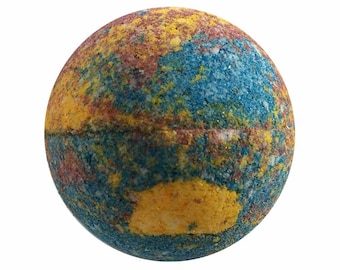 Mid Summers Night Bath Bomb, Bath Fizzy, Handmade Spa Product, Epsom Salts, Hydrating Coconut Oil, Sensitive Skin, Great Gift for Her
