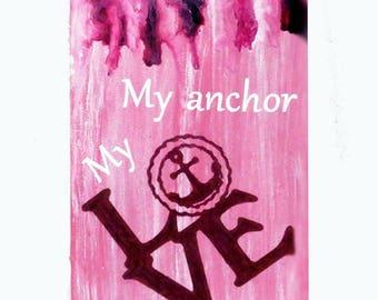 Valentine Melted crayon , Valentine wall decor, Valentine crayon art, Valentine gift for her, melted crayon painting, Valentine gift for him