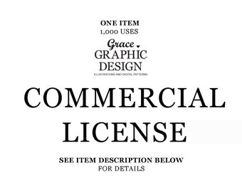 Small Commercial Use License for ONE clipart Set by Grace Harvey