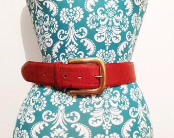 Vintage 1980's belt // Catherine Easley Leather // Bohemian Southwestern Belt