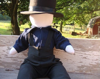 Traditional Handmade Amish Boy Doll