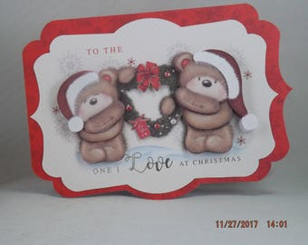3-D Christmas Bear Cards - 5