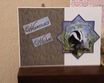 Handmade Pyramid Animal theme Greeting Card