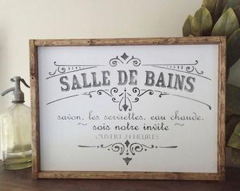 French bathroom sign