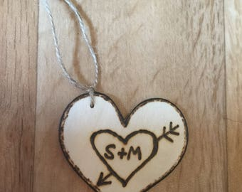 Carved Names Ornament