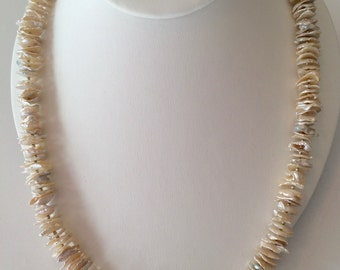 Natural Pearl and Sterling Necklace