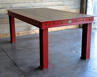 Vintage Industrial Firehouse Table