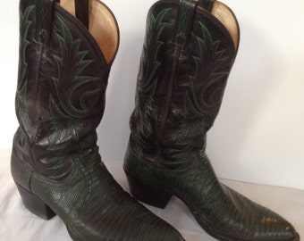 Dan Post Dark Green Cowboy Boots size 10 D