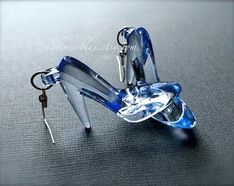 High Heel Blue Shoe Earrings. Dangle Earrings. Fashion. Fashionista. Style. Kitsch. Stiletto Earrings. Gifts for Her Under 15. Shoes. Heels.