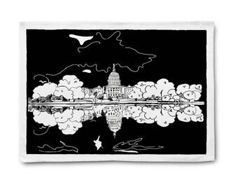 US Capitol Washington DC Tea Towel