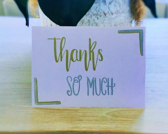 Calligraphy Thank You Cards set of 4