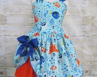 Girls Finding Dory Nemo birthday party pageant custom dress skirt outfit