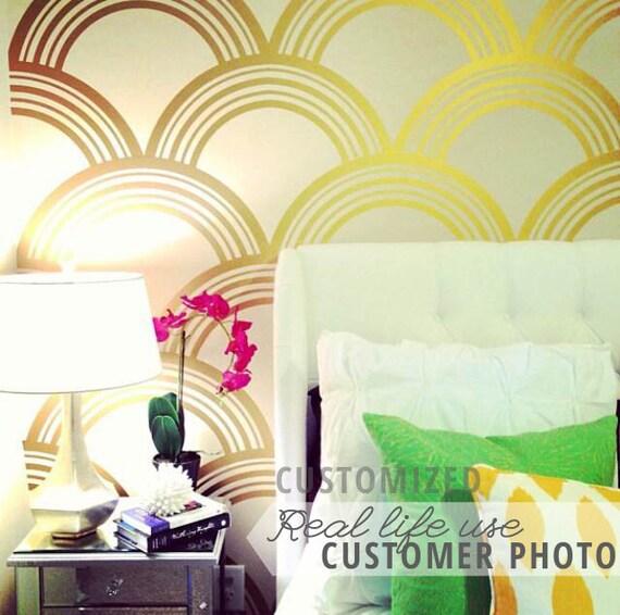 Art Deco Scallop Pattern Decal Wall Decal Custom Vinyl Art - Custom vinyl decals barrie