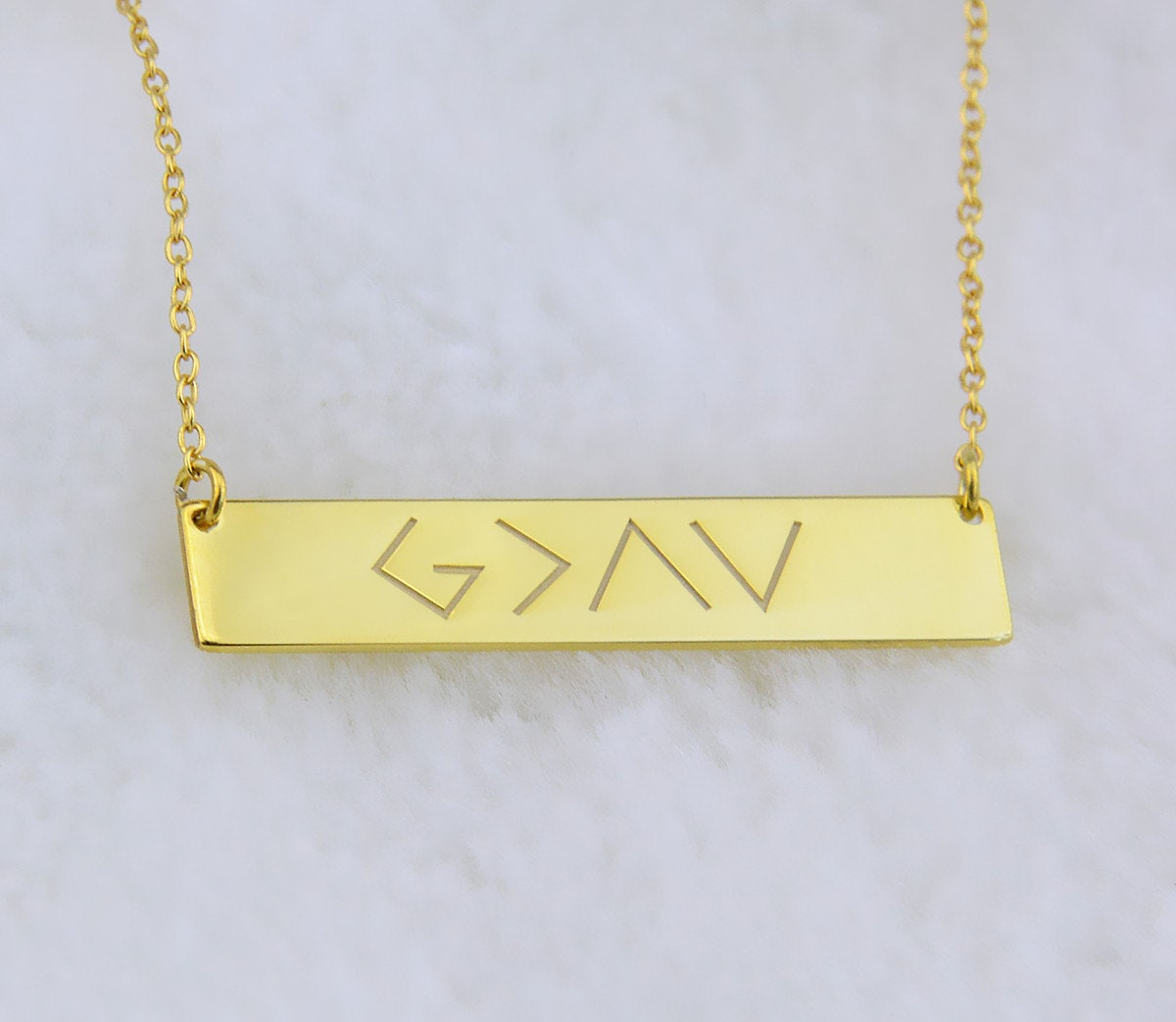 God Is Greater Than The Highs And Lows Specific Bar Necklace Gold Coordinates Bar Necklaces SOhv48uv4