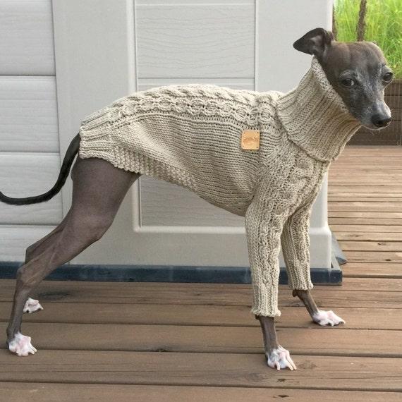 Italian Greyhound apparelhandmade knitwear-linen