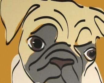 Peculiar a Pug in the Dog Series Limited Edition Giclee