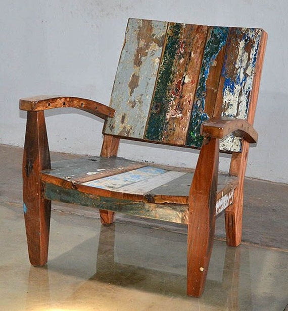 These 6 Pieces Of Colorful Furniture Are Absolute Must Haves: Outdoor Furniture Reclaimed Teak Adirondack Style Chair Made
