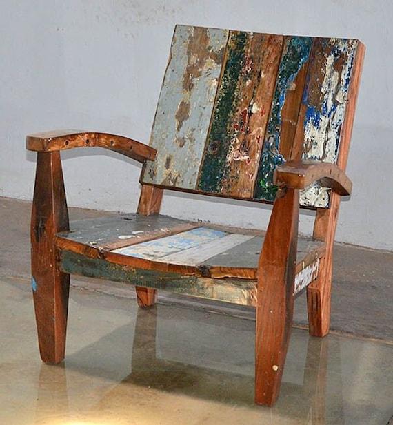 Meubles De Patio Chaise De Style Adirondack En Teck Recycl