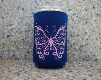 Filigree Butterfly Can Cooler