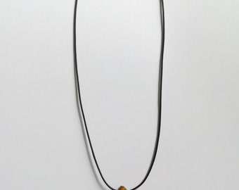 Golden Yellow Mother of Pearl Leaf 16inch Short Necklace