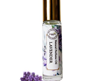 Organic Lavender Perfume Oil, Tranquility Roll On, Vegan Perfume, Gift Idea