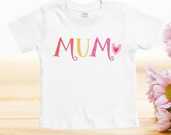 Mothers day tshirt custom, mum heart tshirt, Mother's Day Tshirts, funny designs for baby, mother day gift, baby clothes