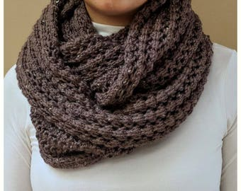 Made to Order - Hand Knitted/Lace Knit Oversized Infinity Blanket Scarf, Extra Large Infinity Scarf, Cowl, Winter Accessories