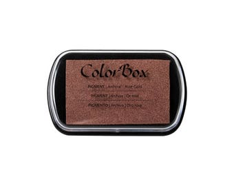 Rose Gold Metallic Colorbox full size ink pad - Pigment ink