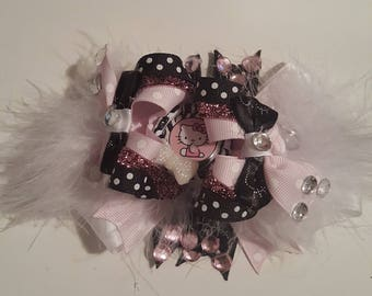"5"" High Top Hello Kitty Pink, White, Black Hairbow, pink Hairbow, white Hairbow, black Hairbow"