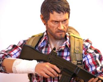 The Last of Us Joel 1/6 scale 12 inch custom action figure Hot Toys Style doll with a guitar