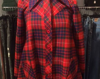 1970's Plaid Swing Jacket