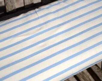 Jersey white blue stretch wide striped organic