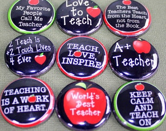 Teacher Magnets one inch