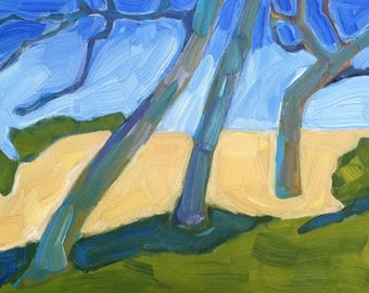 Oaks, California, Trees, Hills, Golden Hills, Nature, Landscape, Oil Painting, Contemporary Realism, Original Oil Painting