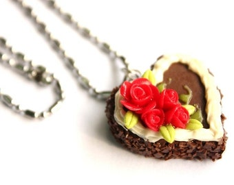 Miniature Polymer Clay Sweet Bakery for Beaded Jewelry Necklace